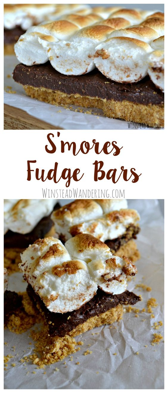 It doesn't get more rich or decadent than these s'mores fudge bars: a gooey layer of fudge sandwiched between graham cracker crust and toasted marshmallows.: