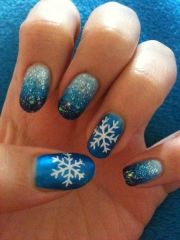 snowflake nail art nails