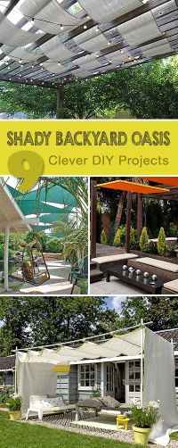9 Clever DIY Ways for a Shady Backyard Oasis | For the ...