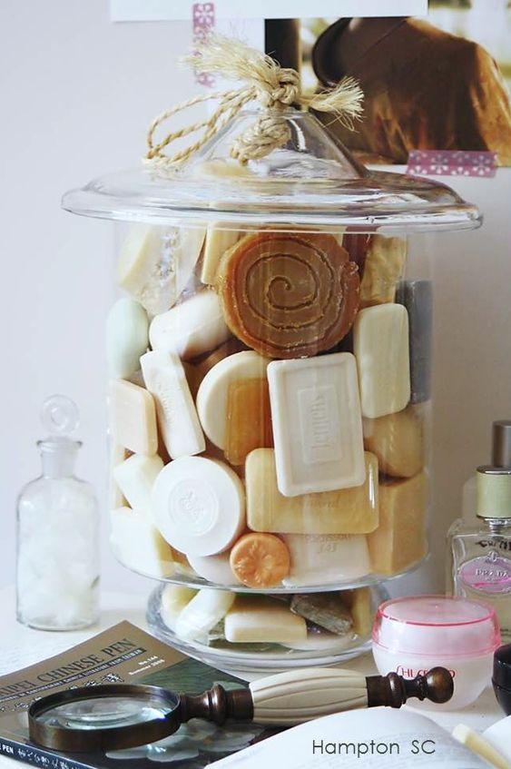Soaps Jars and Bathroom on Pinterest