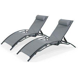alices garden duo bains de soleil aluminium louisa anthracite transats aluminium et