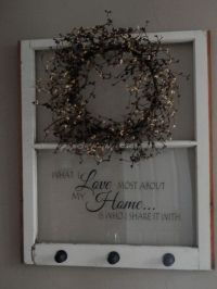 Repurposed Old Window to Shelf Decoration | Country ...