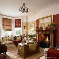 Red Gold And Brown Living Room
