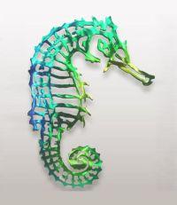 Seahorse Colored Metal Wall Art Black Cat Artworks ...