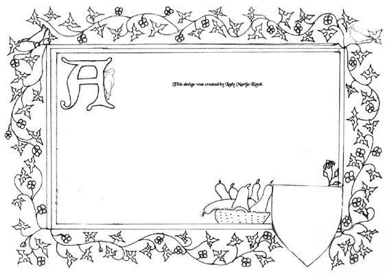 For kids, Illuminated manuscript and Scroll design on