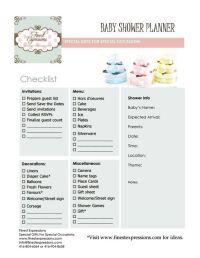 Baby Shower Planning | Baby Shower Planner/Checklist ...