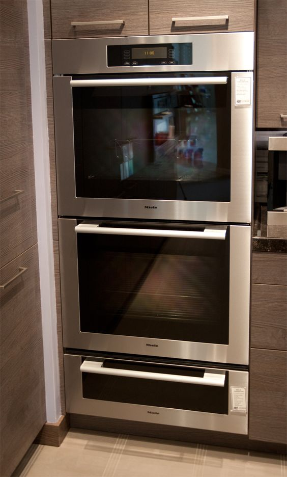 Miele microwave oven and warming drawer  The cooking