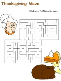 Thanksgiving, Thanksgiving worksheets and Maze on Pinterest