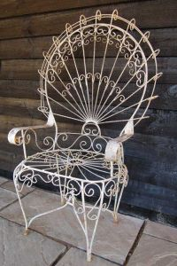 Antique Large Wirework Peacock Chair--my mother has two ...