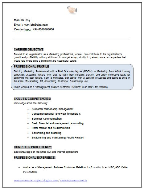 Mba Graduate Resume Examples - Examples of Resumes - mba marketing resume samples