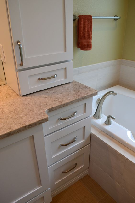 Vanity next to Tub  Company Projects  Pinterest  Tubs