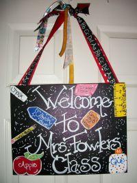 Great Teacher Gift. Teachers Classroom Welcome Door Sign ...