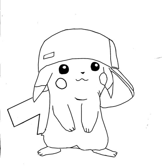 Pikachu, Coloring pages and Coloring on Pinterest