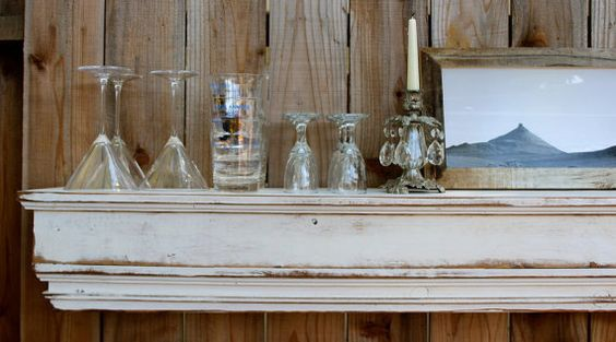 Beach Home Decor Cottage Chic Wood Floating Mantel