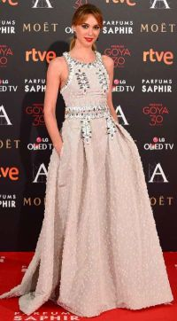 Marta Hazas in Carolina Herrera NY dress at the Goya