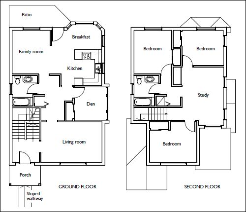 House Floor Plans #stairs Pinned by www.modlar.com