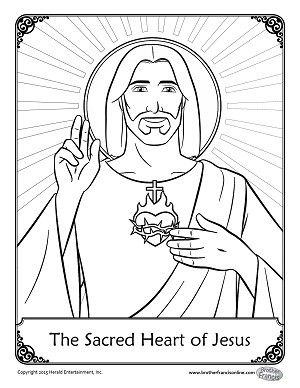 Jesus coloring pages, Sacred heart and Jesus on Pinterest