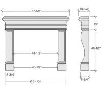 Average Fireplace Dimensions | Learn | Pinterest | Fireplaces
