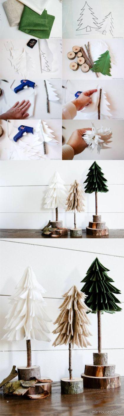 Decoración de navidad con fieltro - littlehouseoffour.com: