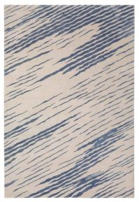 KELLY WEARSTLER | FLAUNT RUG. Bursts of sheeny blue hand ...
