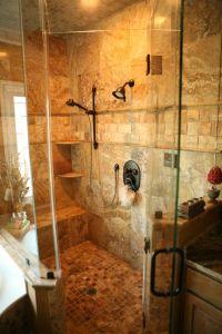 scabos travertine bathroom | custom shower designs scabos ...