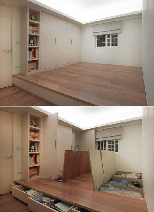 Spare room The floor and Storage on Pinterest