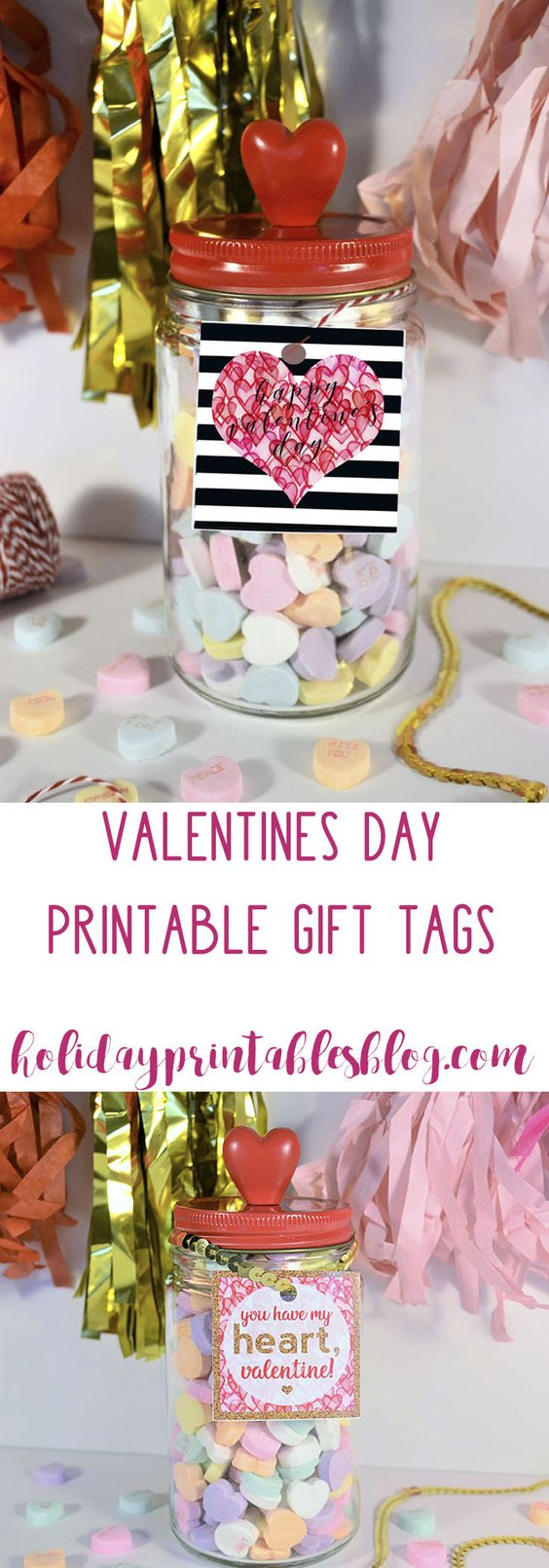 Valentine's Day Free Printable Gift Tags | Teacher Gift Idea | Printable Valentines Tags | Holiday Printables: