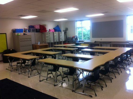 Middle school  desk arrangement  Bulletin Boards Door