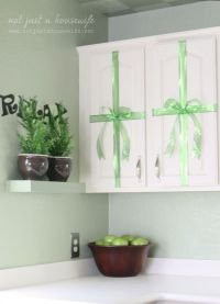 """Kitchen Christmas Decor: """"wrap"""" your cabinets like ..."""