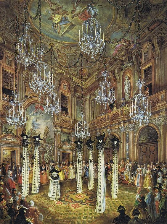 Bal du Siècle at Palazzo Labia in Venice 1951: