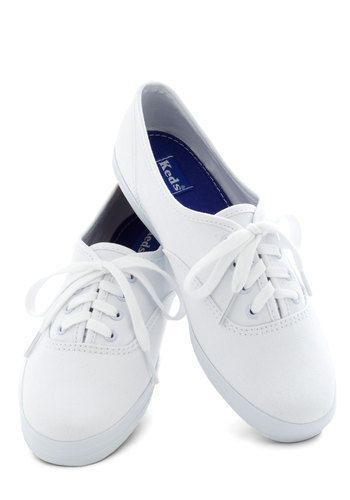 Back to the Basics Sneaker, #ModCloth If all else fails go with some white Ked's.:
