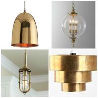 Indoor Lighting A Brass Pendant Stylish Style Kitchen ...