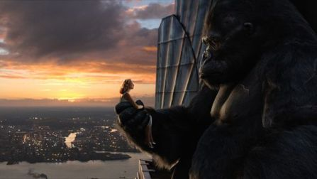 King Kong and Beauty on Empire State Building in the film.