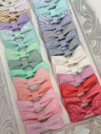 All kinds of different colored bow ties! MINT Peach Coral ...