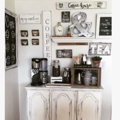 Rolling Kitchen Carts Black Sink Coffee Bar Made From An Old China Cabinet Bottom With All ...