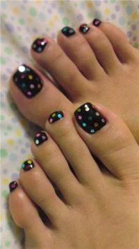 Toenail Designs | Pedicures, Cute toes and Polka dots