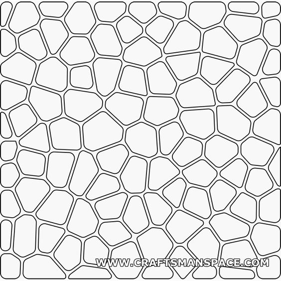 Voronoi 2D pattern (with rounded corners and offset