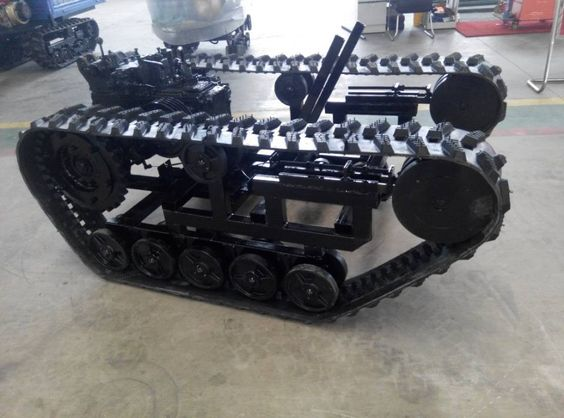 Rubber Tracks With Sprocket Rubber Track Chassis