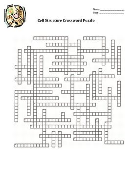 Cell Organelles Crossword Puzzle 51 Key Vocabulary Words