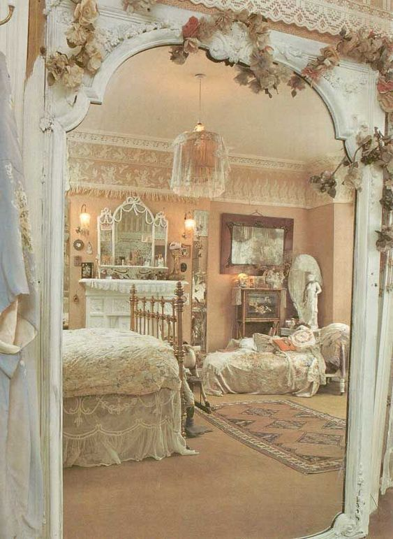 Shabby Chic Bedroom ...love the archway - http ...