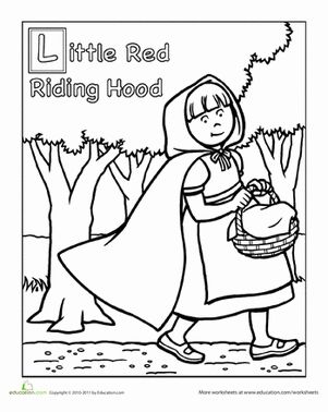 Red riding hood, Hoods and Coloring on Pinterest