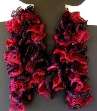 Sashay yarn, Crochet scarf patterns and Crochet scarfs on ...