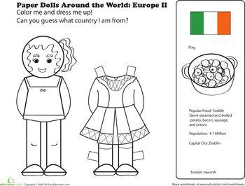 Paper dolls, Dolls and Ireland on Pinterest