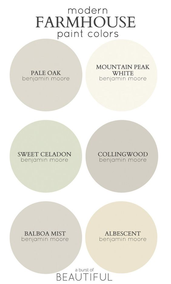 Modern Farmhouse Color Palette Best Paint Colors For
