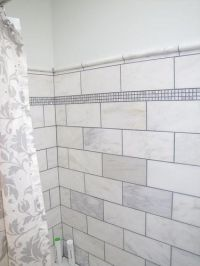 12x12 marble tile cut in half to make 6x12 large subway ...