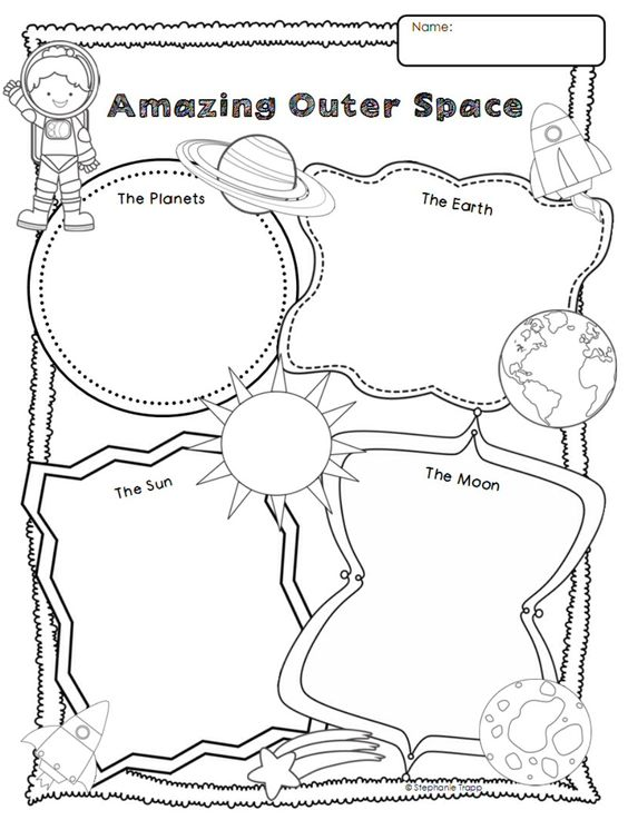 Outer space, Graphic organizers and Graphics on Pinterest