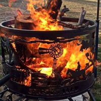 Australian outback fire drum... | Design... Fireplaces ...