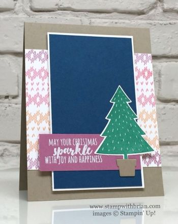 Foxy Friends, Christmas Pines, Stitched with Cheer, 2016-2018 In Colors. Stampin' Up!, Brian King