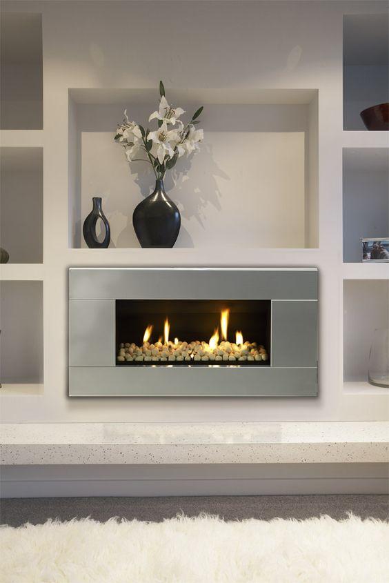 Image Of Image Black Modern Gas Fireplace Ideas Master Bedroom