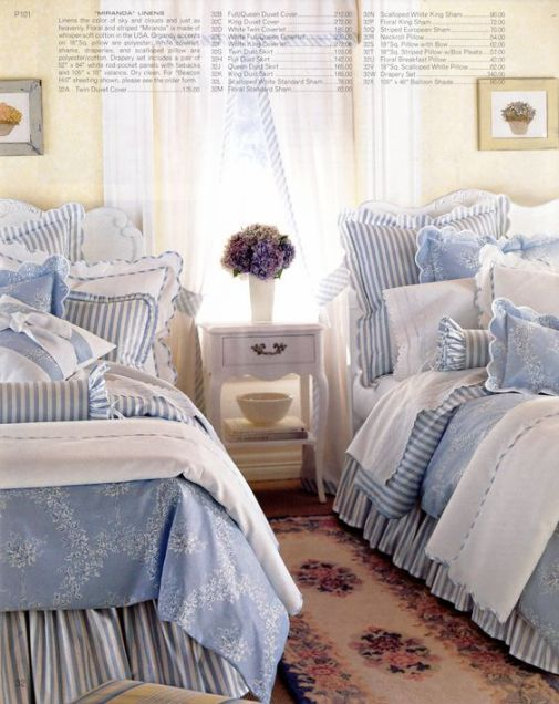 Love the Cottage Stripes in the soft blues.:
